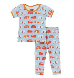 Kickee Pants KicKee Pants: Camper Print Pajama Set, Child