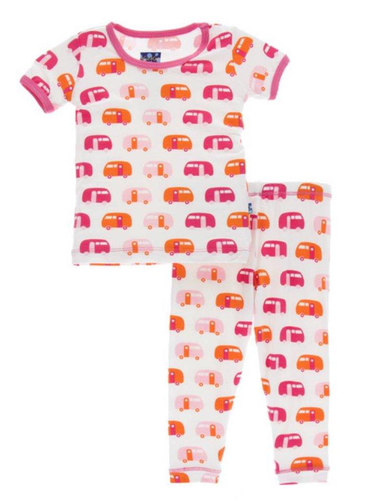 Kickee Pants KicKee Pants: Print S/S Pajama Set, Camper