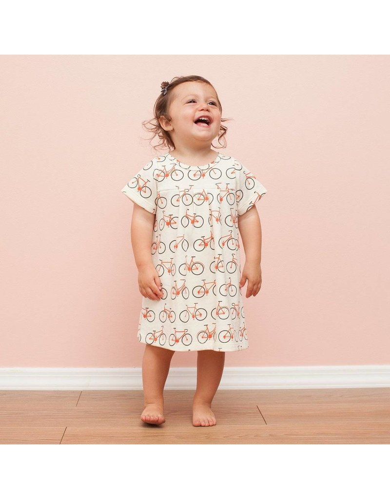 Winter Water Factory Winter Water Factory: Organic Cotton Florence Baby Dress in Bicycles
