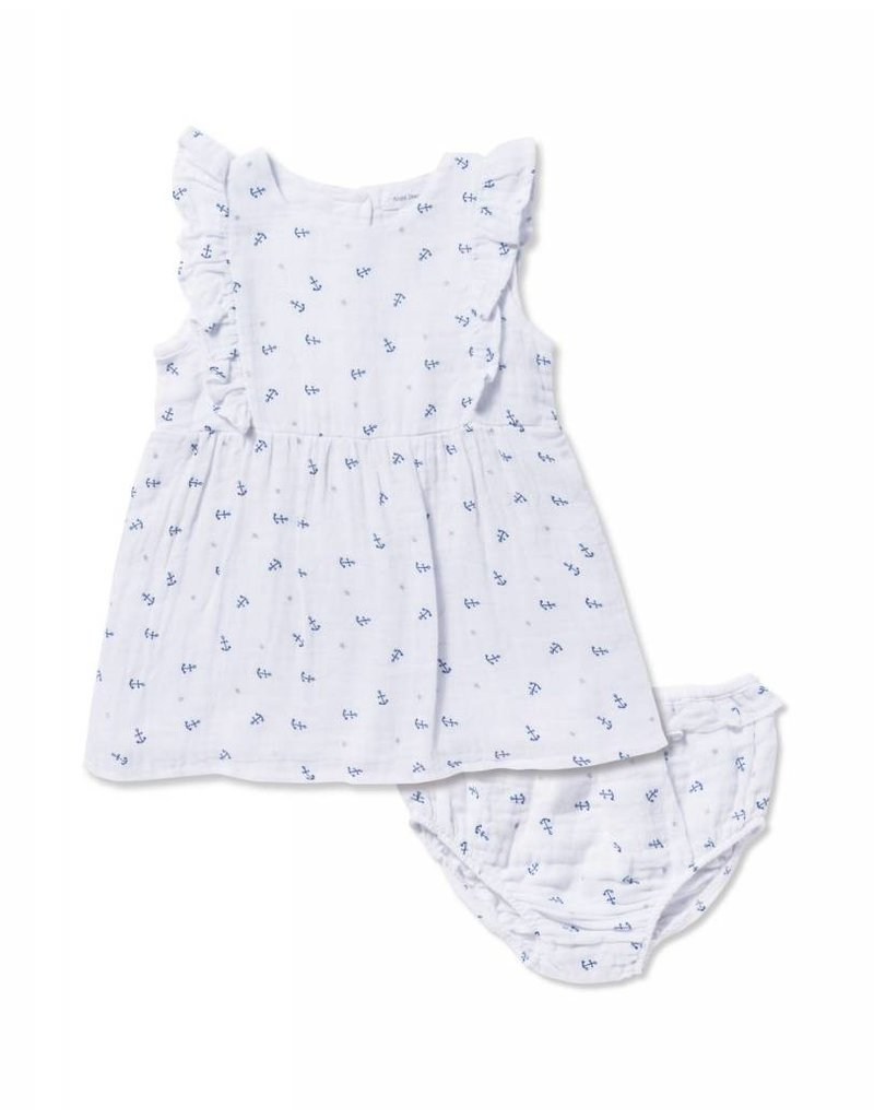 Angel Dear Angel Dear Anchor Muslin Dress Bloomer Set Nurture Baby