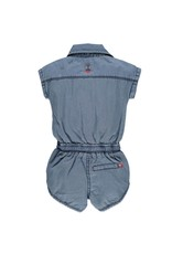 BabyFace Babyface | Embroidered Chambray Romper