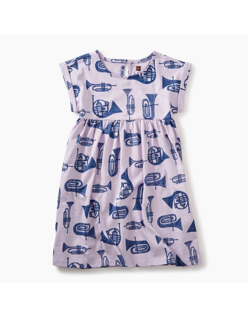Tea Collection French Horn Graphic Empire Dress