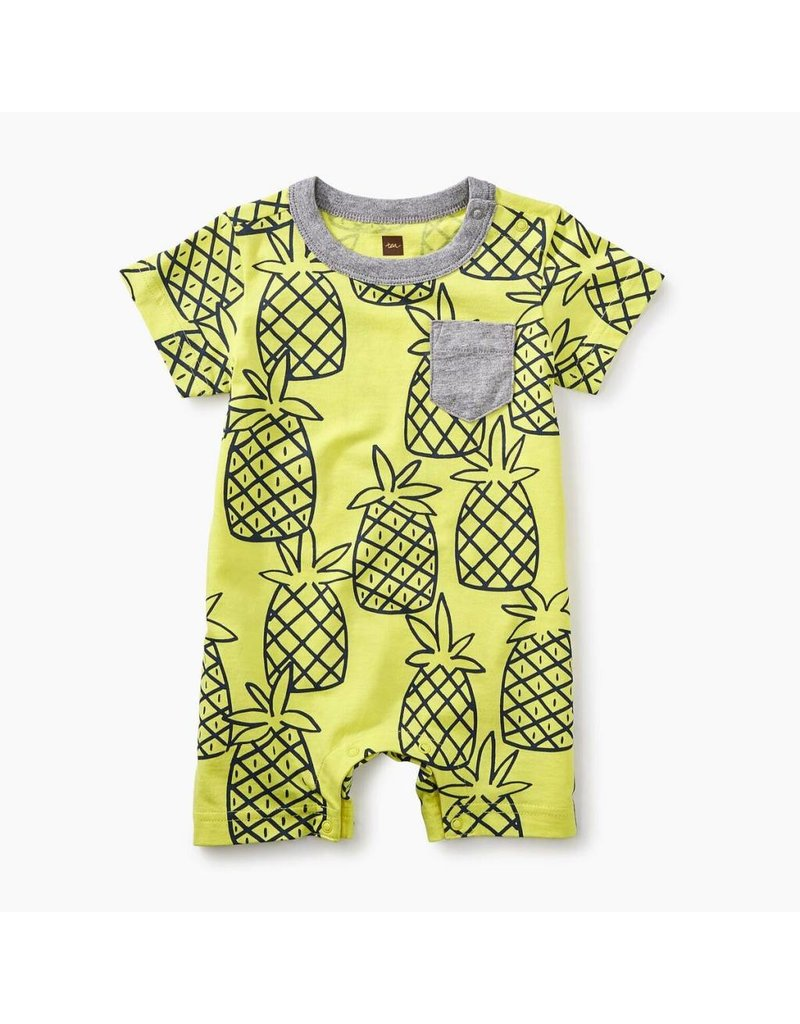 Tea Collection Pineapple Print Pocket Romper