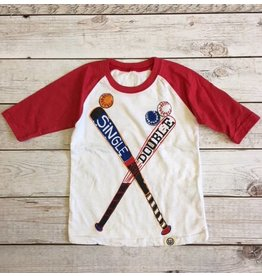 Wes & Willy Single Double Raglan Tee (Toddler)