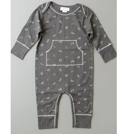 Feather Baby | Footprints Faux Kangaroo Romper