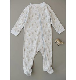 Feather Baby| Sloth Zipper Footie