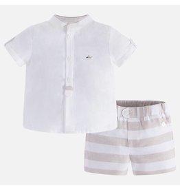 Mayoral Mayoral| Striped Shorts & Shirt Set