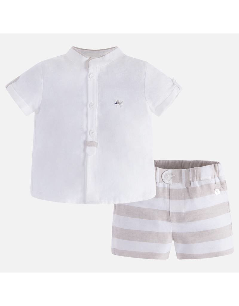 Mayoral Mayoral| Striped Shorts & Shirt Set