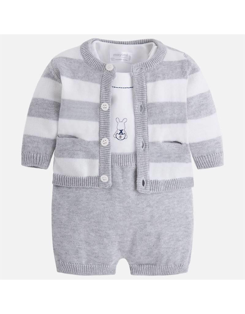 Mayoral Mayoral| Three Piece Knit Shorts Set