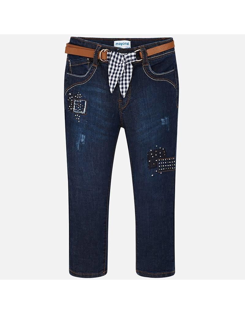 Mayoral Mayoral  Belted Embellished Jeans