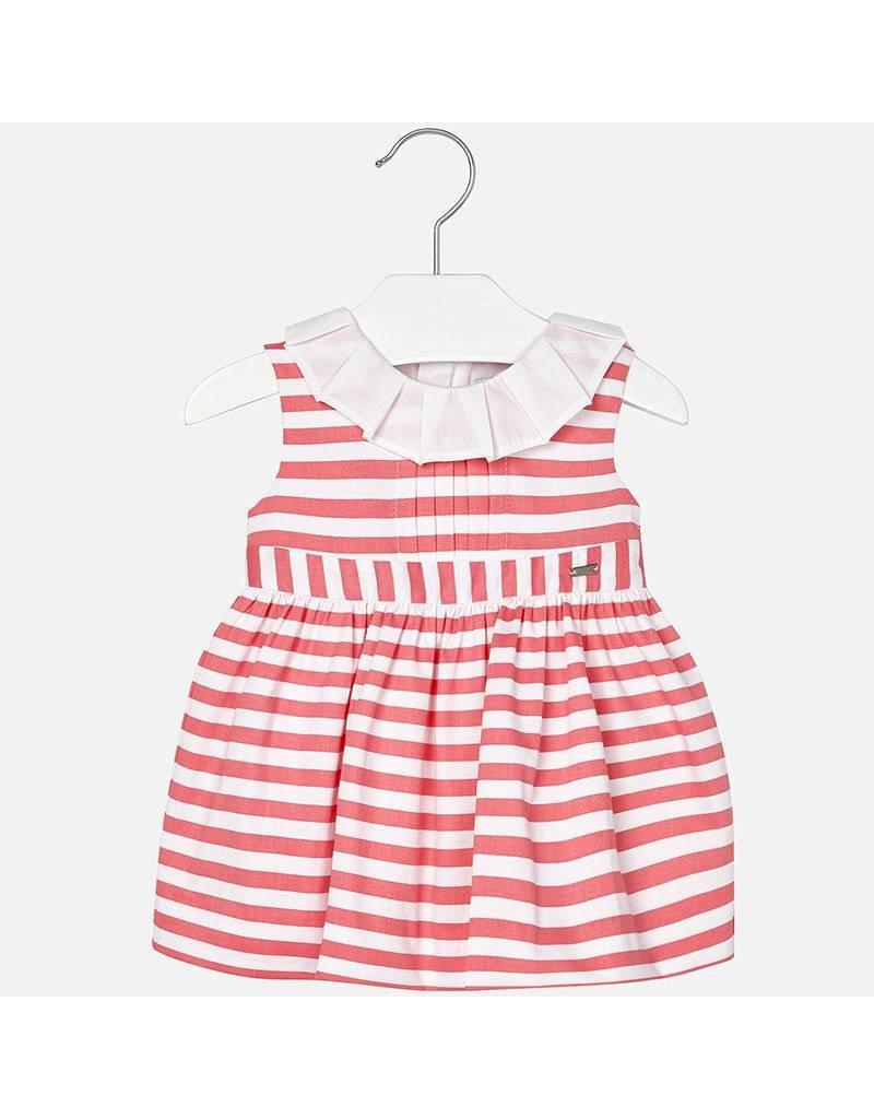 Mayoral Striped Satin Baby Dress