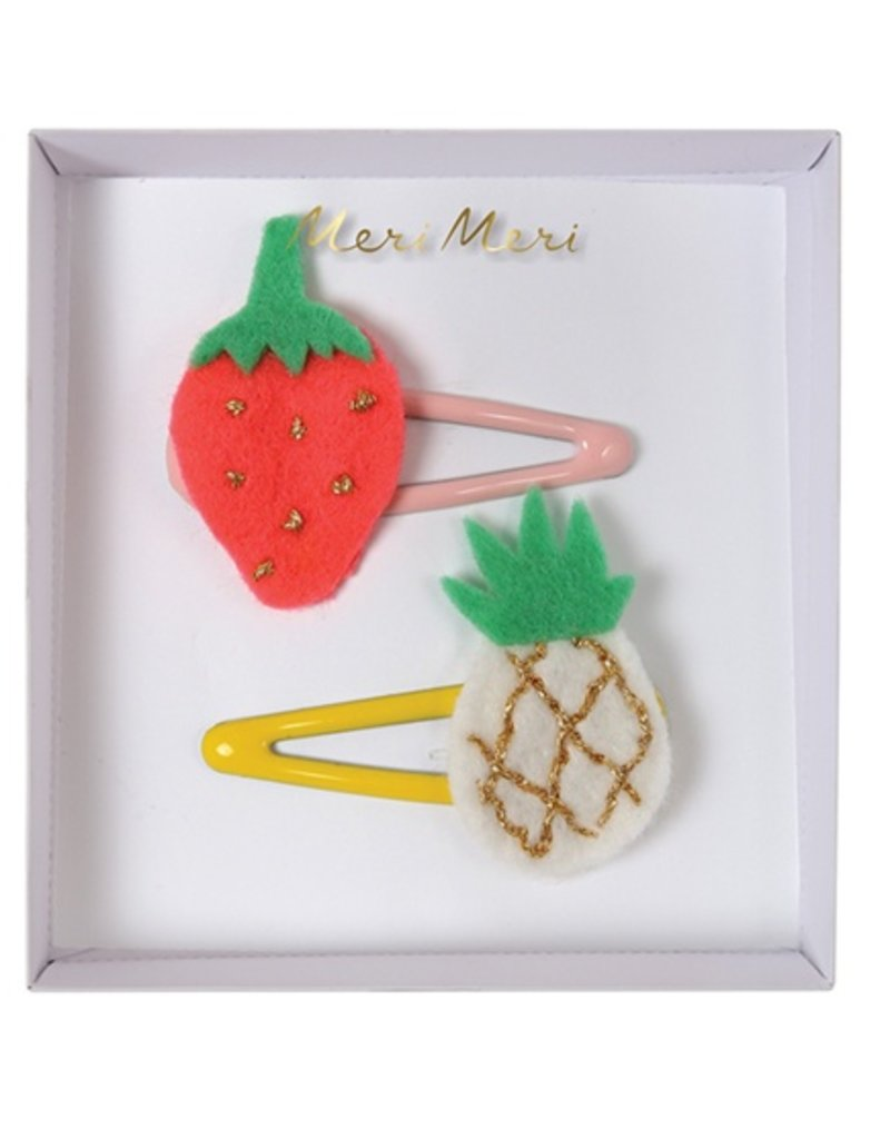 Meri Meri Pineapple & Strawberry Hairclips