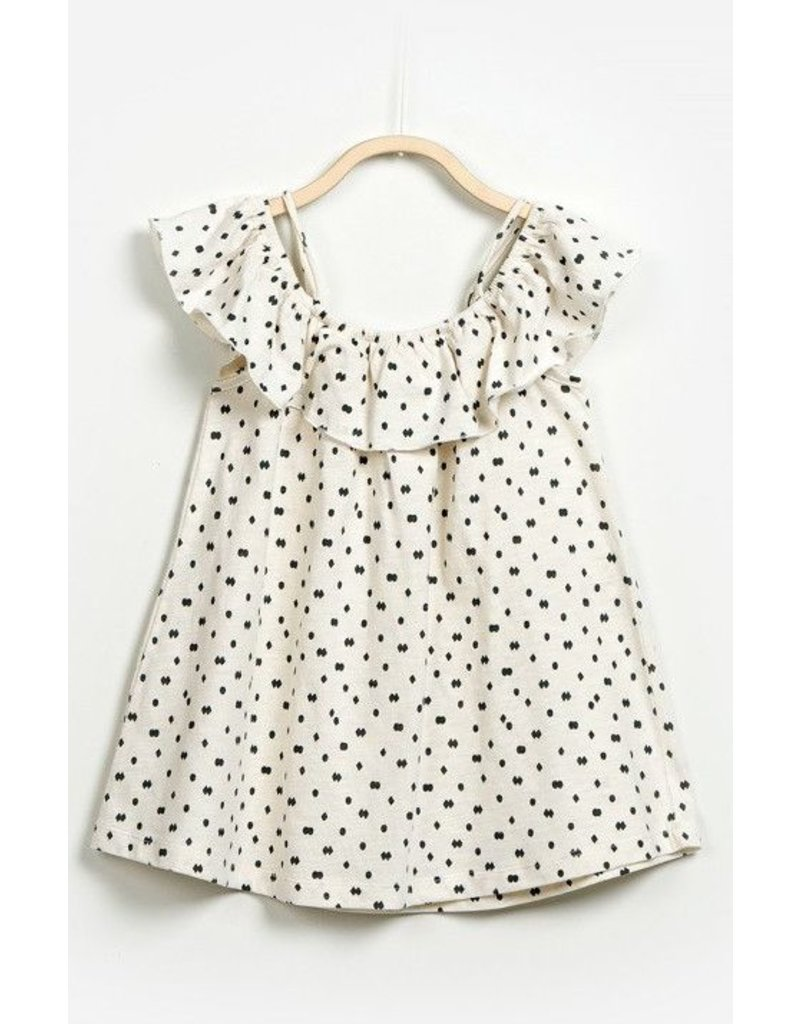 Play Up Diamonds & Dots Ruffle Dress