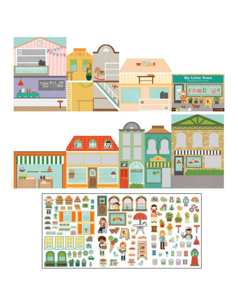 Petit Collage Petit Collage Sticker Activity Book | My Little Town