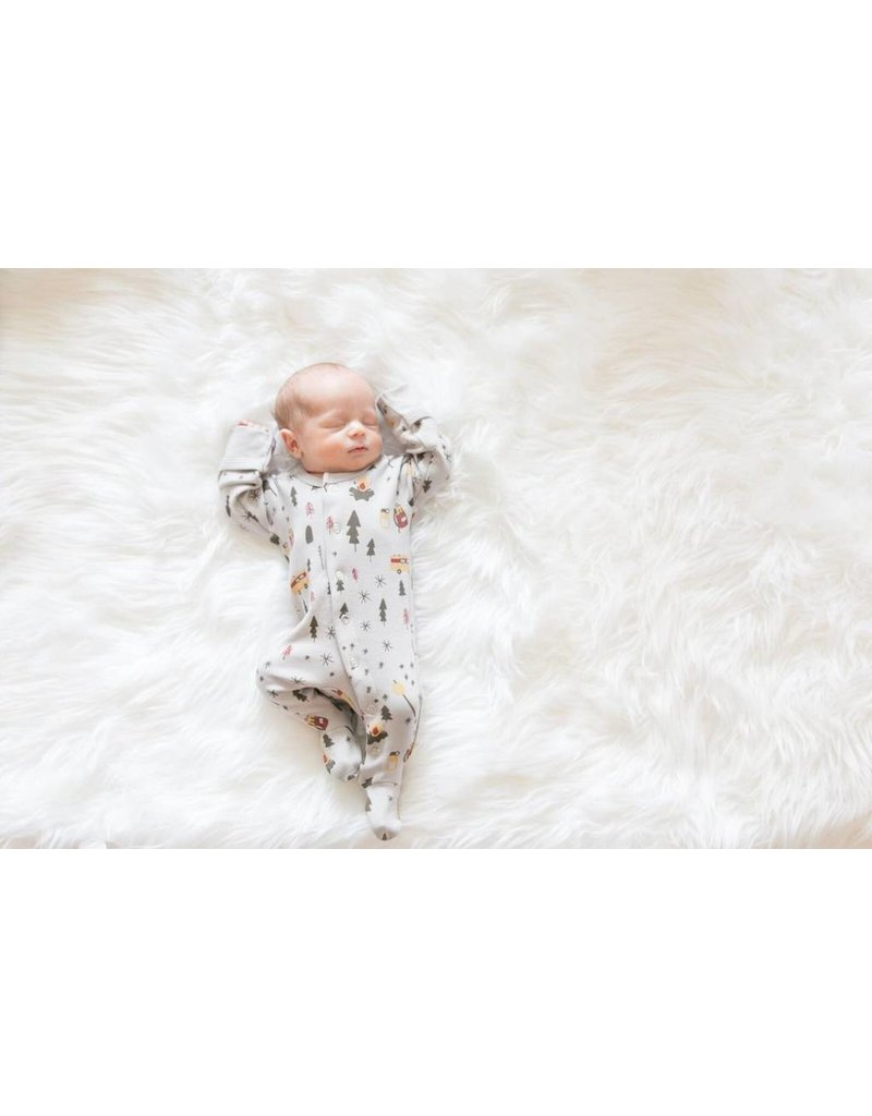 L'oved Baby L'oved Baby | Organic Footie in Light Gray Camp