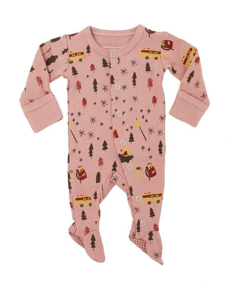 L'oved Baby L'oved Baby | Organic Footie in Mauve Camp