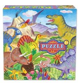 eeBoo eeboo | Dinosaur Island 64 Piece Puzzle