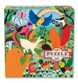 eeBoo eeboo | Busy Meadow 64 Piece Puzzle