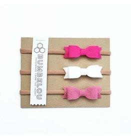Bumbelou | Pink Mini Bow Headband Trio