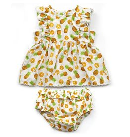 Pineapple Dress & Bloomer Set