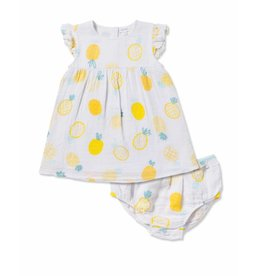 Angel Dear Angel Dear | Pineapple Dress and Bloomer Set