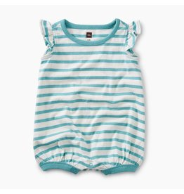 Tea Collection Tea Collection| Flutter Sleeve Stripe Romper