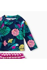 Tea Collection Tea Collection| Tropical Flora Rash Guard Swim Set