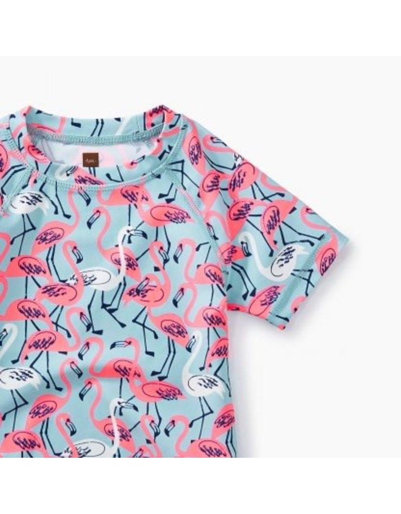 Tea Collection Tea Collection| Flamingos Short Sleeve Rash Guard