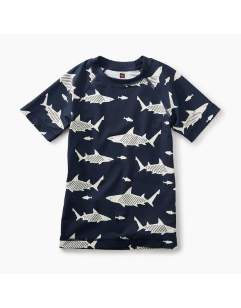 Tea Collection Tea Collection| Sharks Short Sleeve Rash Guard