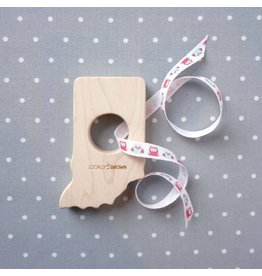 Smiling Tree Toys Indiana Wood Teether Toy