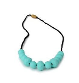 Chewbeads Chewbeads | Chelsea Teething Necklace Turquoise