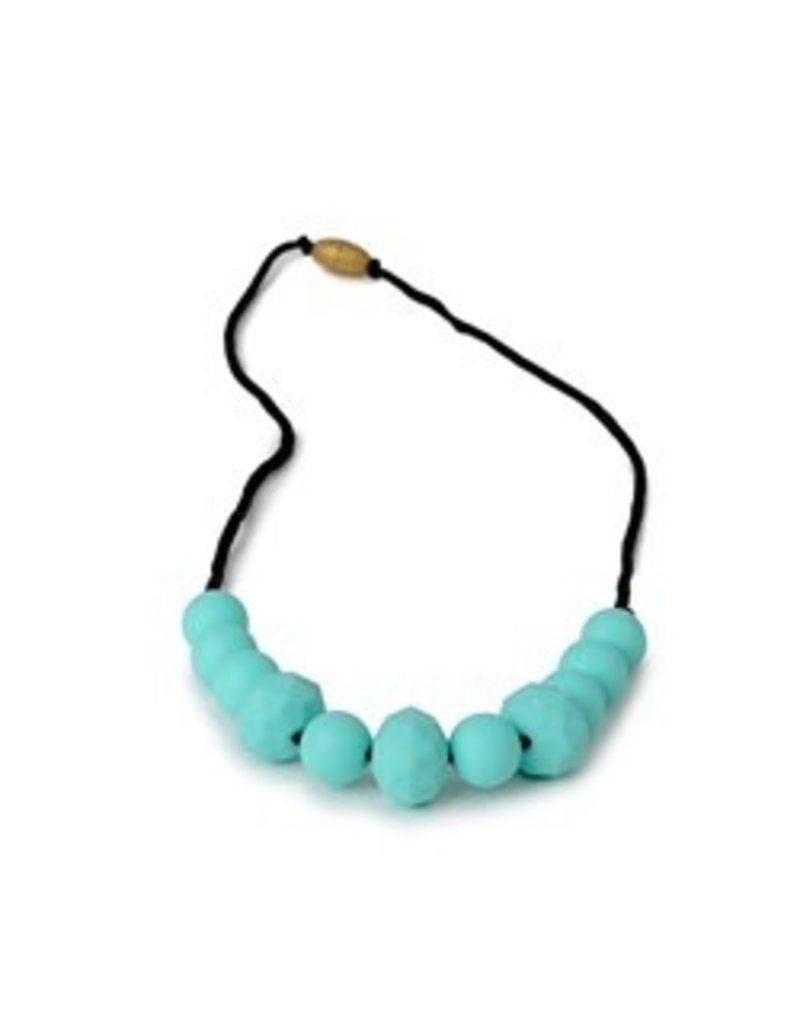 Chewbeads Chewbeads   Chelsea Teething Necklace Turquoise