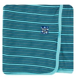 Kickee Pants Kickee Pants | Swaddling Blanket, Shining Sea Stripe