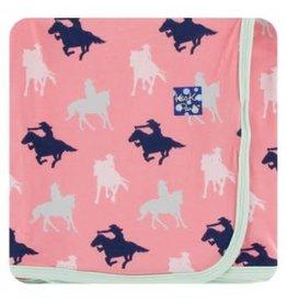 Kickee Pants Kickee Pants | Swaddling Blanket Strawberry Cowgirl
