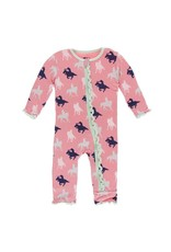 Kickee Pants Kickee Pants|Muffin Ruffle Coverall W/ Zipper in Cowgirl