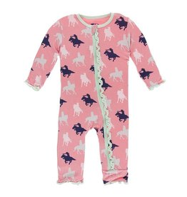 Kickee Pants Kickee Pants | Cowgirl Muffin Ruffle Coverall with Zipper
