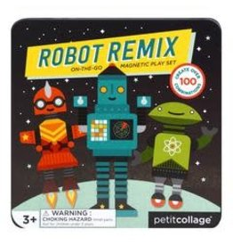 Petit Collage Petit Collage | Robot Remix On-The-Go Magnetic Play Set