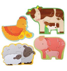 Petit Collage Petit Collage Beginner Puzzle Farm Babies