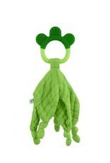 Organic Blankie Teether Green