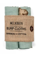 Milkbarn Kids Milkbarn   Blue Moose Burp Cloths (Bamboo)