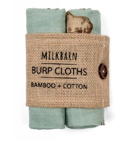 Milkbarn Kids Milkbarn | Blue Moose Burp Cloths (Bamboo)