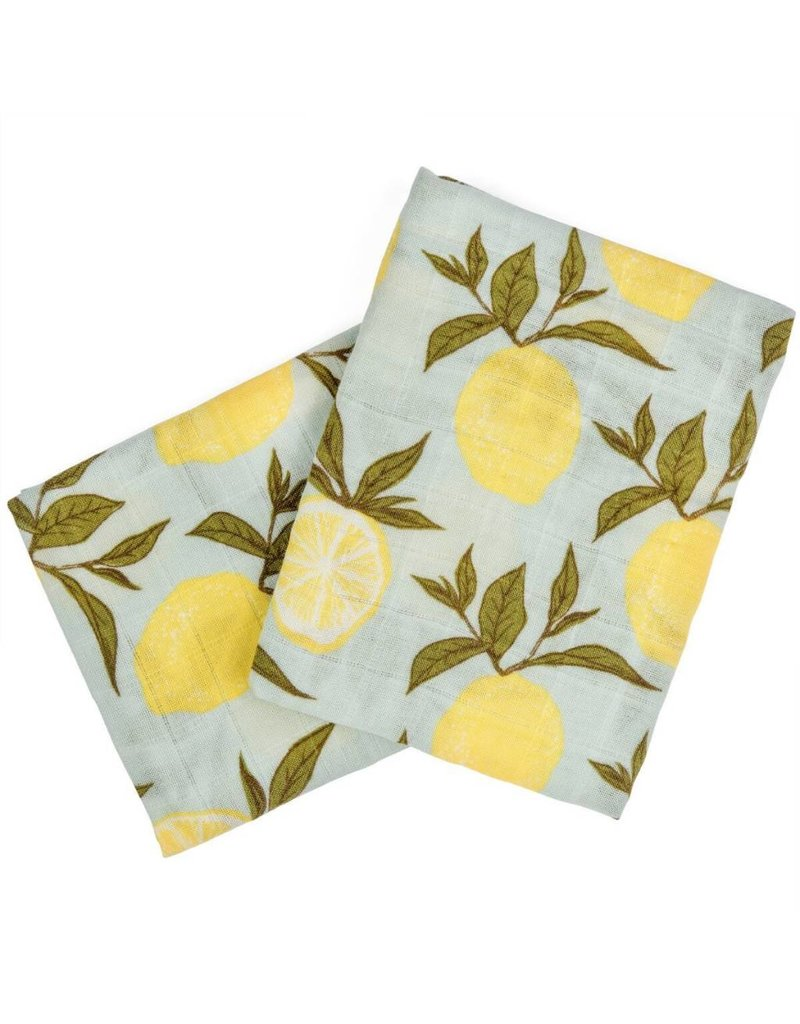 Milkbarn Kids Milkbarn   Lemon Burp Cloths (Organic)
