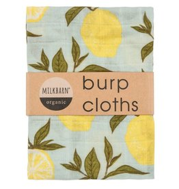 Milkbarn Kids Milkbarn | Lemon Burp Cloths (Organic)