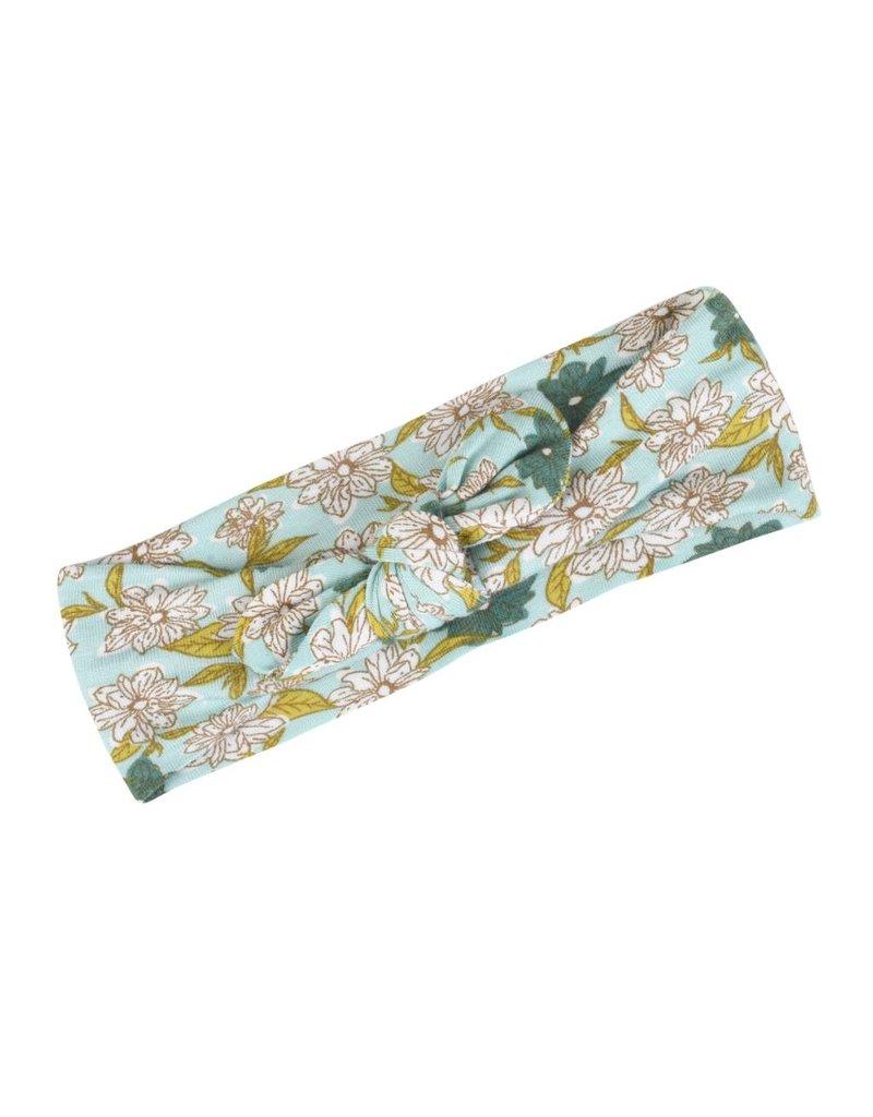 Milkbarn Kids Milkbarn | Bamboo Knot Headband in Blue Floral