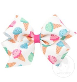 Wee Ones Ice Cream Print Medium Bow