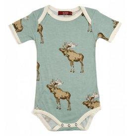 Milkbarn Kids Milkbarn | Blue Moose Bodysuit (Bamboo)