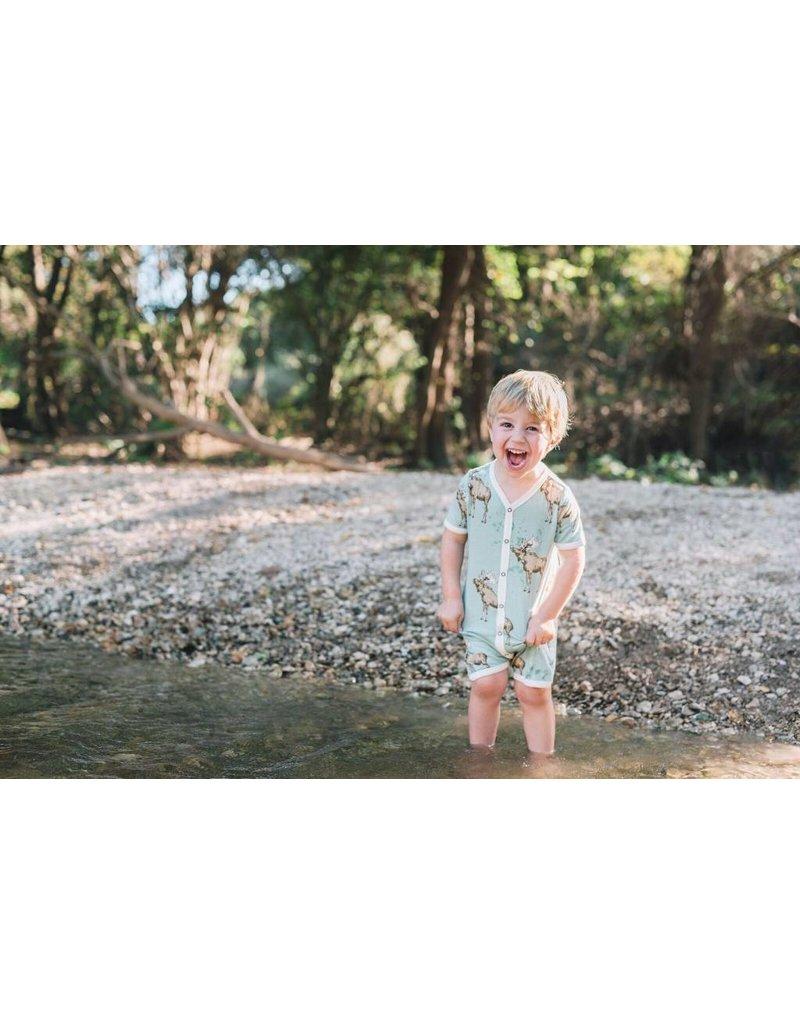 Milkbarn Kids Milkbarn | Blue Moose Shortall (Bamboo)