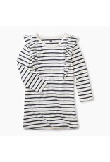 Tea Collection Tea Collection Striped Ruffle Shoulder Dress