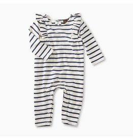 Tea Collection Tea Collection | Stripe Ruffle Shoulder Romper