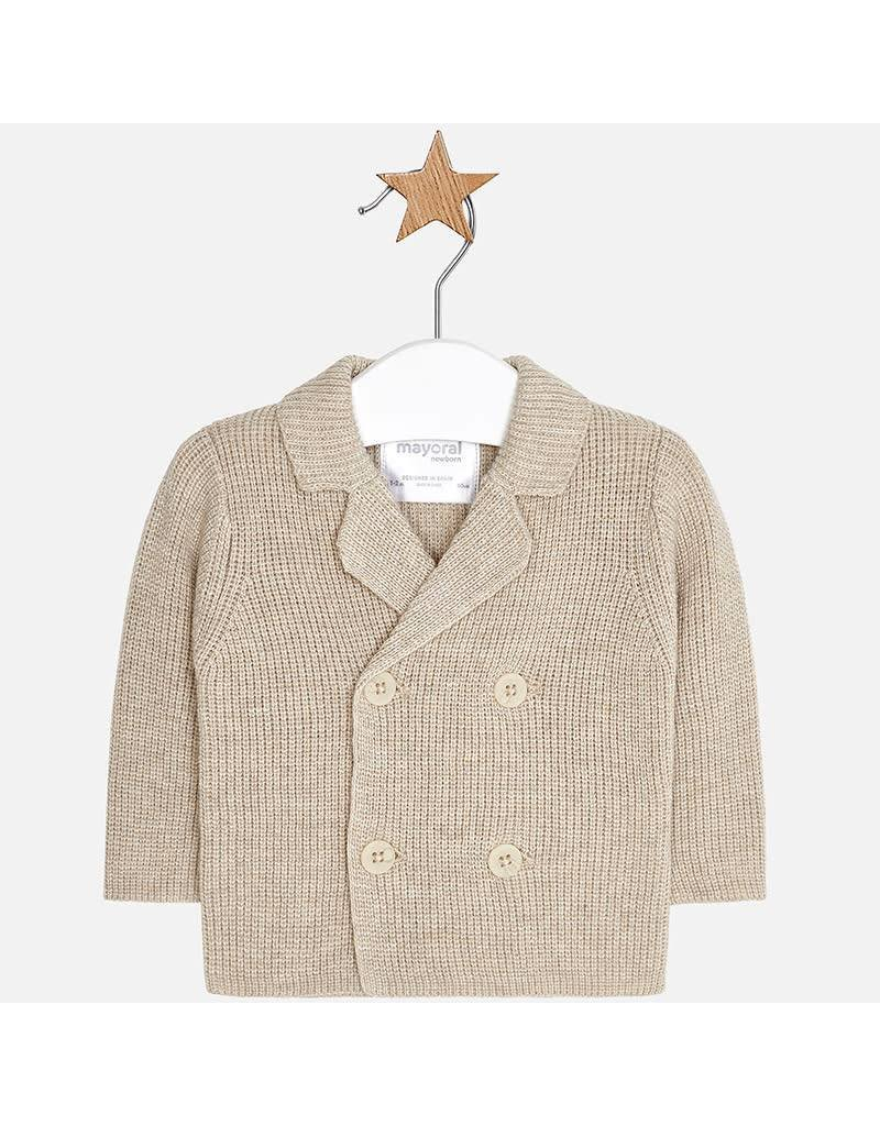 Mayoral Mayoral | Double Breasted Knit Baby Cardigan